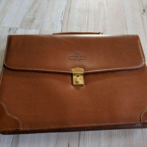 Golden Duck Leather Collection Brown Attache' Case